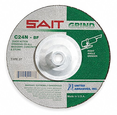 pack of 5 RPM 7 Type 27 Silicon Carbide Depressed Center Wheels 8500 Max 5//8-11 Arbor 1//4-Thick