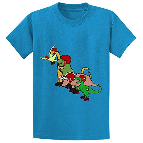 unicorn-roller-derby-dinosaurs-teen-short-sleeve-crew-neck-tee-blue