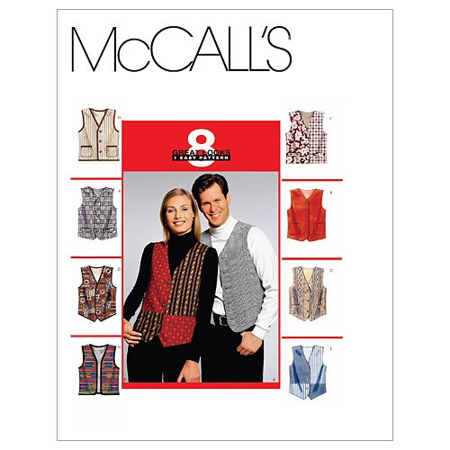 McCall's Patterns M6228 Misses'/Men's Lined Vests, Size XXL