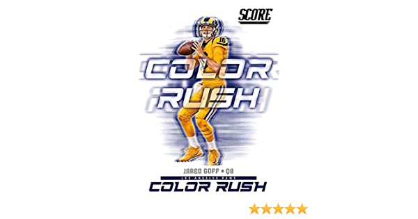 Amazon.com  2018 Score Color Rush  18 Jared Goff Los Angeles Rams Football  Card  Collectibles   Fine Art a7621c91b