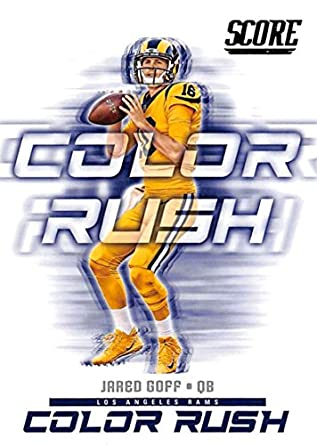 buy popular 45e35 cf3ab 2018 Score Color Rush #18 Jared Goff Los Angeles Rams Football Card
