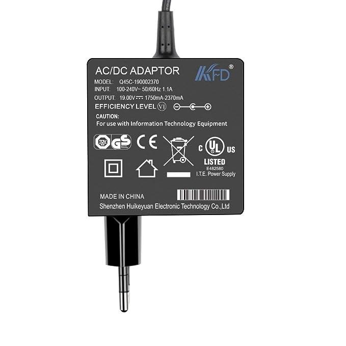 KFD 45W Adaptador Cargador portátil para Asus Zenbook UX305 UX21A UX31A UX360UAK T300LA TX201LA X553M X553MA X453m X453MA F553M UX305UA D553MA 15.6