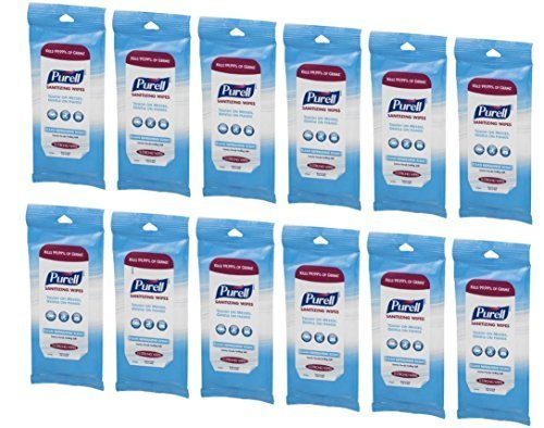 PURELL Hand Sanitizing Wipes - Clean Refreshing Scent - 15 Count Travel Pack (Pack of 12)
