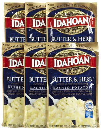 Idahoan Butter & Herb Mashed Potatoes 4 oz (Pack of 12)