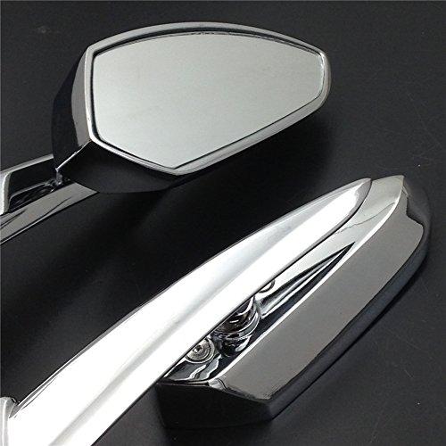 Pour Harley Davidson Sportser Dyna R/étroviseurs de motos /à lames lances chrom/ées Softail