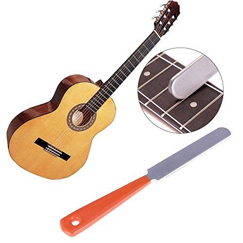 Store-Homer - Durable Stainless Steel Guitar Fret File Crowning Narrow Dual Edge Tools Repairing and Polishing Guitar, Violin Fret ()