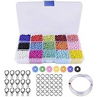 Rfvtgb ÜCK Kleurrijke kralen, 3 mm dik glas, voor het maken van sieraden, armbanden, halskettingen, cadeau voor kinderen