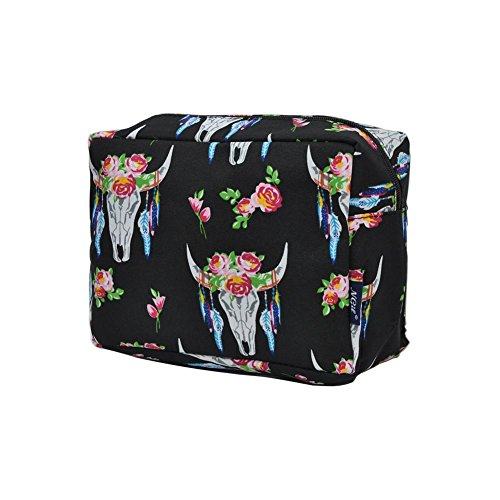 NGIL Large Travel Cosmetic Pouch Bag Spring 2018 Collection (Bull Skull Black) -