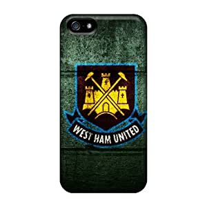 New NikRun Super Strong The Popular Football Club England West Ham United Tpu Case Cover For Iphone 5/5s
