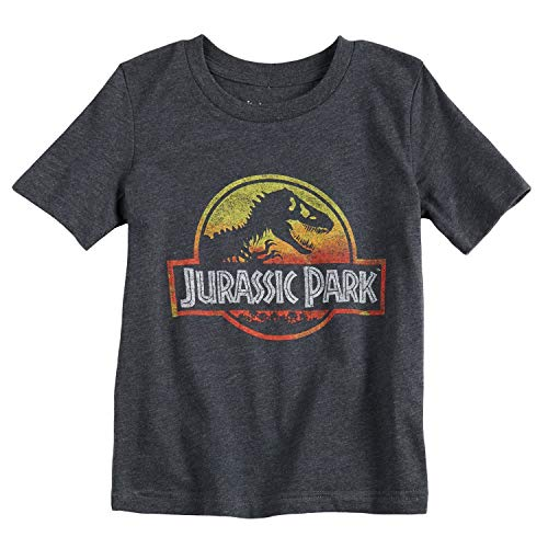 Jumping Beans Toddler Boys 2T-5T Jurassic Park Graphic Tee 4T Charcoal ()