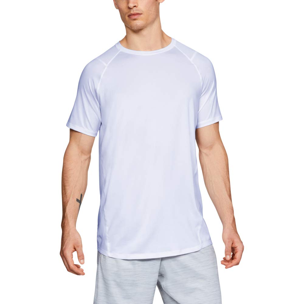 Under Armour Men's MK1 Short Sleeve T-Shirt, White (100)/Graphite, Small by Under Armour