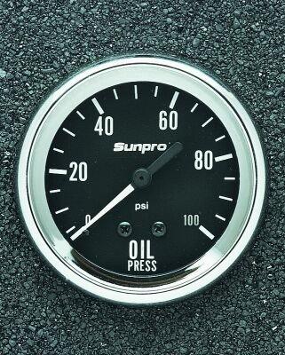 Oil Elect - Sun Elect CP8061 *New* Pro 2-5-8 Mechanical Oil Pressure Gauge
