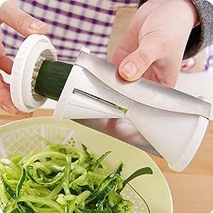 mKitchen Spiral Slicer Spiralizer Complete Vegetable Cutter (White)