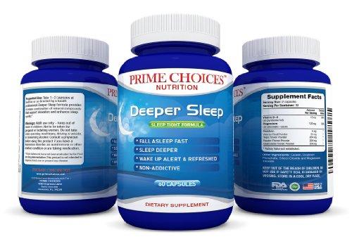 Deep Sleep naturel - Traitement des troubles du sommeil - Insomnia Relief mélatonine 3mg x 2 - Sleep plus, mieux et facile - somnifères puissants avec Passion Flower, Houblon Fleurs, fleurs de camomille, racine de valériane en poudre, vitamine B6, oxyde d