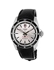 Tudor Grantour Black Microperforated Leather Mens Watch 20500N-SVSBKMCPL