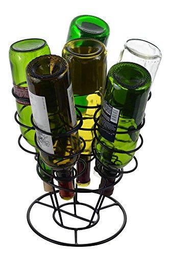 - Fairly Odd Novelties SH-10054 6 Bottle Bouquet Wine Rack, Black, One Size,
