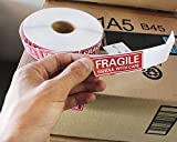 1000 Count Fragile Stickers - Fragile Handle with