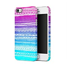 Turquoise & Purple Ombre Native Ornaments Hard Plastic Phone Case For iPhone 5 & iPhone 5s & iPhone SE