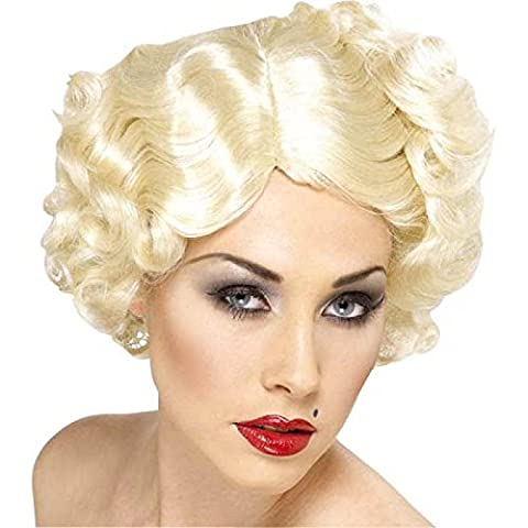 Hollywood Perruque - Smiffy's Women's Short Blonde Wig with Curls,