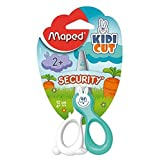Maped 378146 Kidicut Safety Scissors with Fiberglass Blades, 12-Centimeter, Assorted Colours