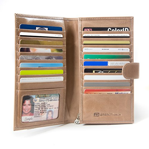 ID Stronghold RFID Wallet Credit Card Organizer - Large Clutch Wallet for Women