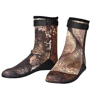 bf0fcf2c49e4 Calcetines de Buceo, 3 mm Zapatos de Buceo de Snorkel de Acuáticos ...