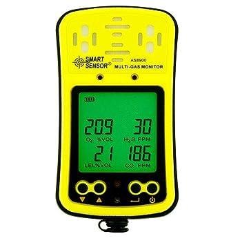 Digital Multi Gas Monitor Handheld LCD Display Backlit Batería Recargable Sonido Luz Alarma 4 en 1 Gas Meter Detector Analizador: Amazon.es: Bricolaje y ...