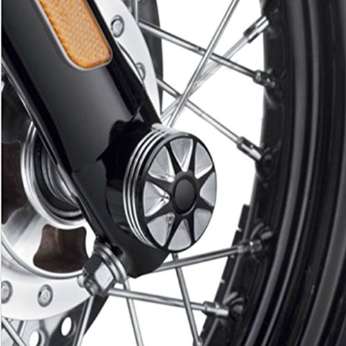 DLLL Motorcycle CNC Deep Cut Front Axle Cover Blot Caps For Harley Davidson Dyna Sportster XL 883 1200 X 48 Softail 08-17 Electra Street Glide Touring Road King FLHT by DLLL (Image #5)