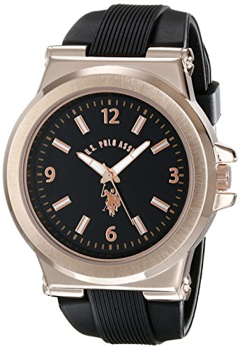 us-polo-assn-sport-mens-usc90006-rose-gold-tone-and-black-silicone-strap-watch