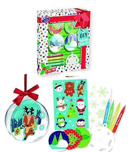 Christmas Tree Ornament Decorating Kit Kids Children Xmas Arts Craft Activity Game, Holiday Toy DIY Ornament Maker Keepsake (Designs 2) -