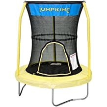 "JumpKing Bazoongi Trampoline with 3 Poles Enclosure System, 55"" , Yellow"