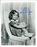 Signed Temple Black, Shirley B&W 8x10 Photo (P,