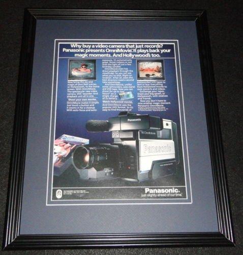 1985-panasonic-omnimovie-camera-framed-11x14-original-vintage-advertisement