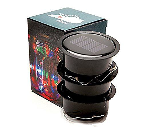Color Changing Fairy Light 3 Pack - Solar Mason Jar Lid Insert - Solar Mason Jar Fairy Light with Color Changing LED for Glass Mason Jars and Garden Decor Solar Lights