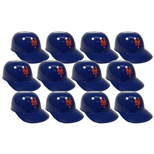 MLB Mini Batting Helmet Ice Cream Sundae/ Snack Bowls, NY Mets - 12 -