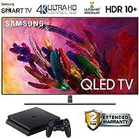 Samsung-QN75Q7FN 75 Q7FN Smart 4K Ultra HD QLED TV (2018) with 2 Year Extended Warranty + PS4 1TB (Super Bundle) QN75Q7FN QN75Q7 75Q7FN 75Q7