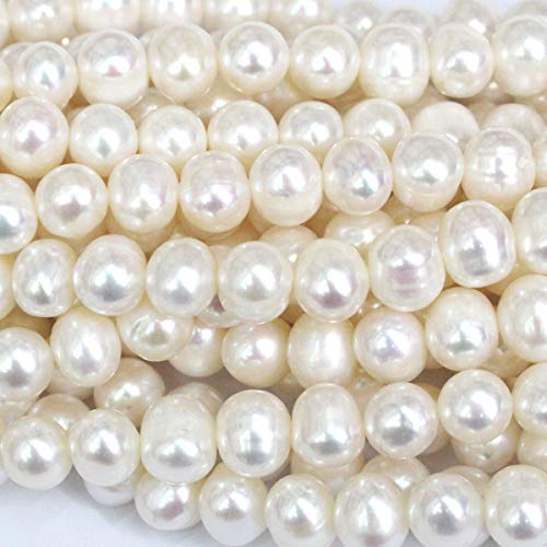 Tacool Natural Genuine Freshwater Cultured Pearl Potato 8-9mm Jewelry Making Loose Beads