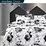 Queen Bedding Duvet Cover Set Abstract art, 1 Cover 2 Pillowcase - Luxury Unique Microfiber Down Comforter Quilt Cover with Zip Closure, Ties - Broken Trek Star Space Modern Style for Men and Women