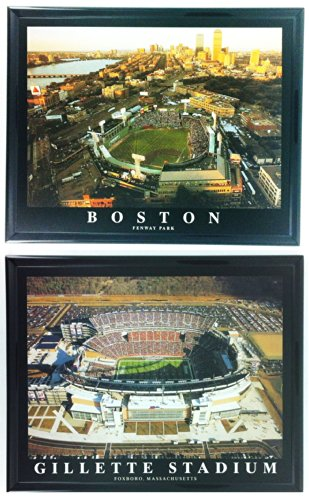 Framed Boston Red Sox and New England Patriots - Fenway Park & Gillette Stadium Prints (Set of 2) ()