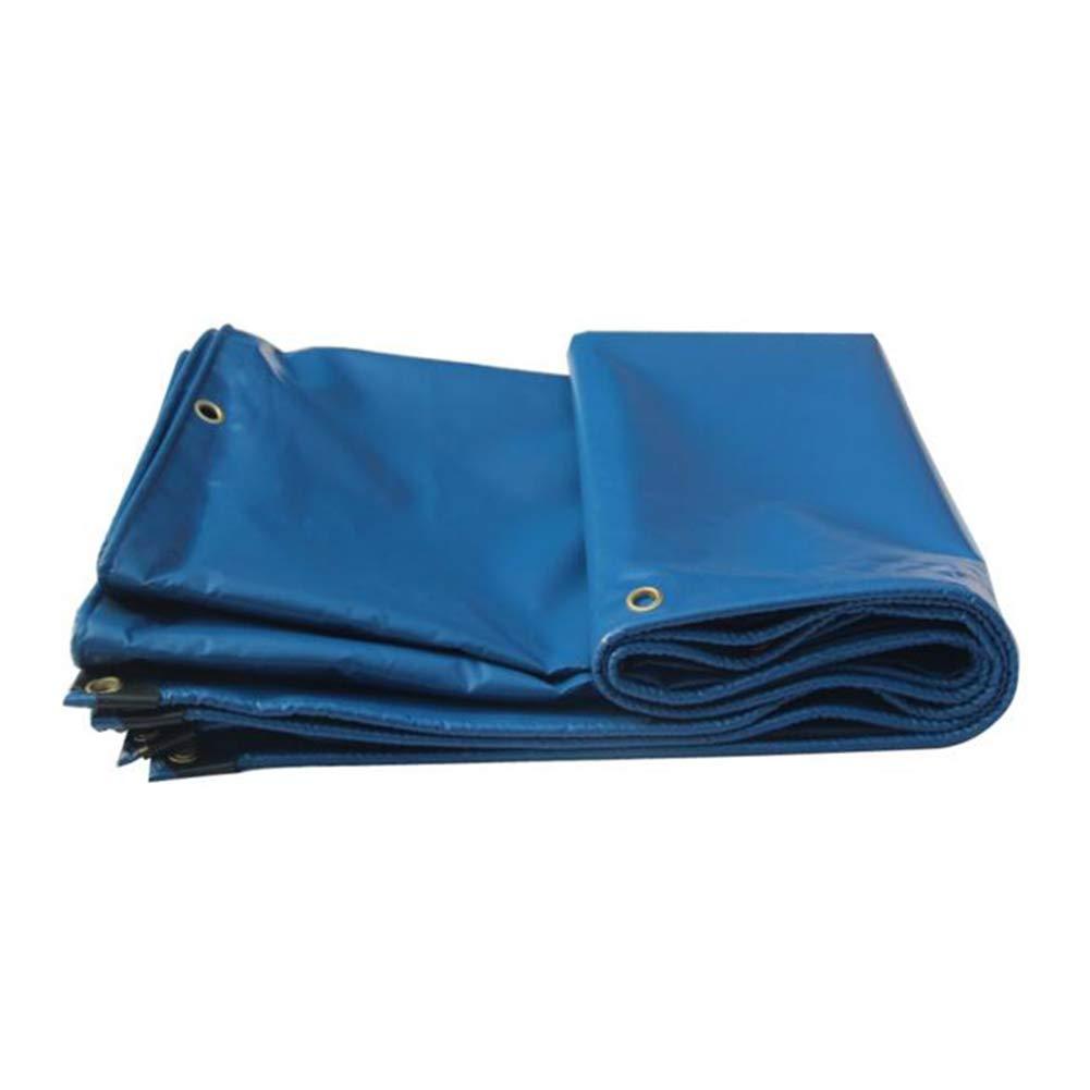 Dall Persenning Plane Wasserdicht Lastwagen Camping Dick Regenfestes Tuch Multifunktional (Farbe   Blau, größe   4  4m)