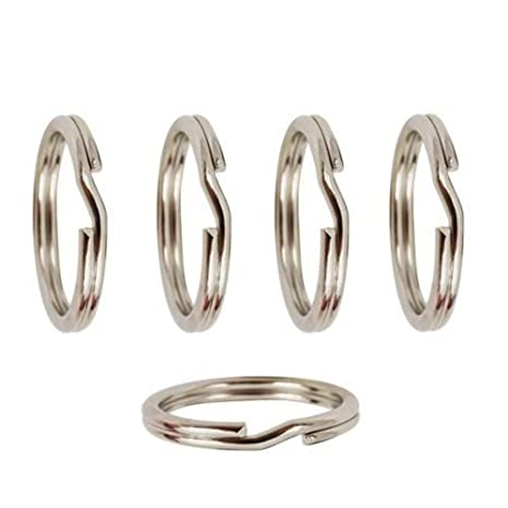 5 x de plata de ley de anillas de llavero para añadir un ...