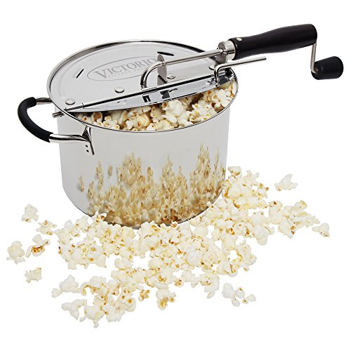 StovePop Stainless Steel Popcorn Popper by VICTORIO VKP1160 by Victorio Kitchen Products