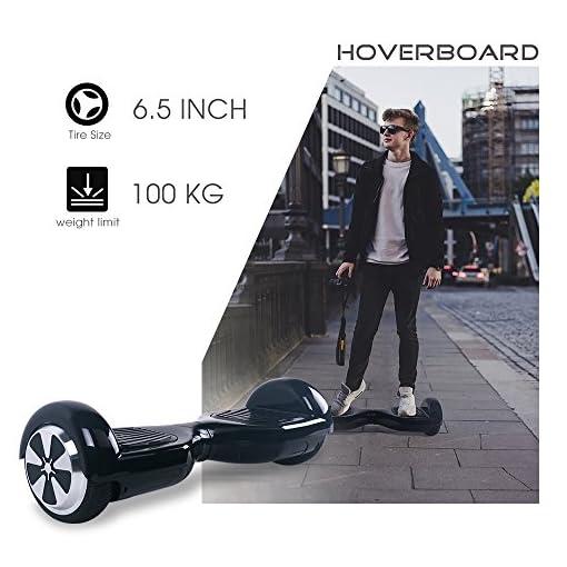 Wingoo Hoverboard 6.5″ Gyropode Overboard Enfant avec Norme UL2272, Self Balance Board Electrique, Hover Board avec et LED, 2 * 250W Moteur, Mode Sécurité Enfant