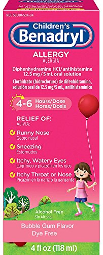 Children's Benadryl Dye-Free Allergy Liquid, 4 FL OZ (118 mL) Per (Childrens Benadryl)