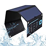 BigBlue New 28W Portable Solar Charger Dual USB Ports with Waterproof Sunpower Solar