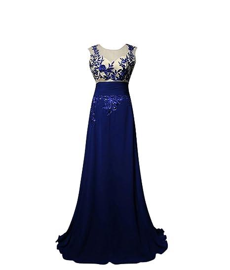 Molly Mujeres Elegante Encaje Lentejuelas Vestidos De Noche El Vestido Formal S Oscuro Azul