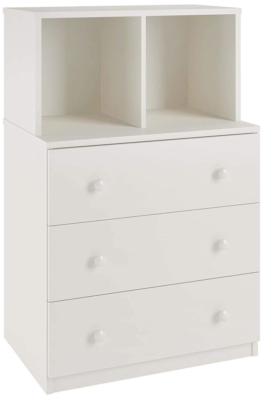 Kids Furniture Storage Organizer Dresser Furniture Storage Unit Drawer Chest Vertical Dresser Storage Tower Finish White by TSR with E-Book