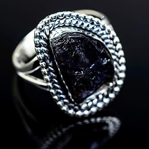 Ana Silver Co Rough Tanzanite Ring 9 (925 Sterling Silver) - Handmade Jewelry, Bohemian, Vintage RING973499 (Ana Silver Tanzanite Rings)