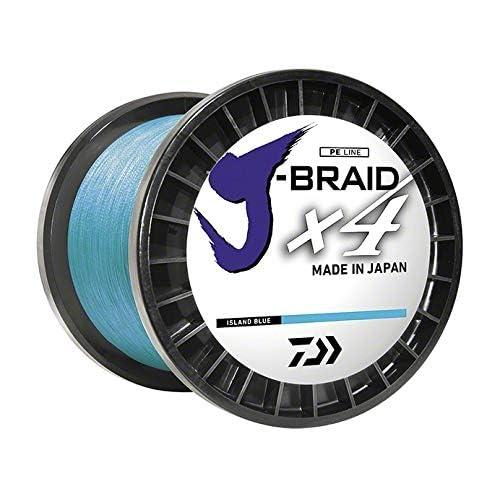 Image of Braided Line Daiwa, J-Braid x4 Braided Line, 3000 Yards, 80 lbs Tested.014' Diameter, Island Blue