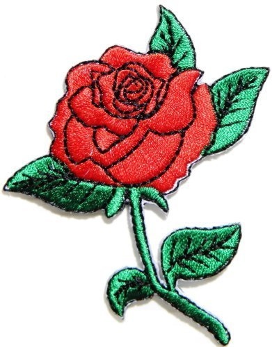 84d0425cc5e4 Amazon.com  Red Rose Flower Logo biker Hog Outlaw motorcycle leather ...